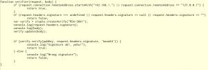 Código de la aplicación de control